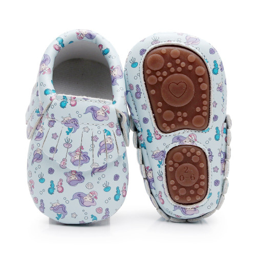 Unicorn Newborn Baby Girls Boys Shoes Moccasins Dinosaur Printing Infant Toddler Hard Sole Crib Footwear First Walker Shoes 0-4Y