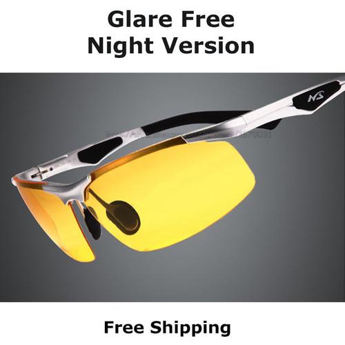 New AORON 2017 Anti-Glare Goggles Eyeglasses Polarized Driving Sunglasses Yellow Lens Night Vision Driving Glasses Men