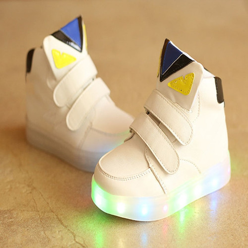 Funny cartoon footwear LED colorful lighting baby shoes 5 stars excellent cute girls boys shoes high quality baby sneakers boots