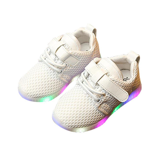 LONSANT New 2018 Kids Fashion Sport Shoes LED Baby Boys Girls Shoes kids Light Up Luminous Child Trainers Running Sneakers