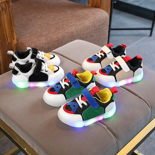 Spring/Autumn classic Fashion baby casual sneakers hot sales LED shoes baby glowing high quality girls boys shoes footwear