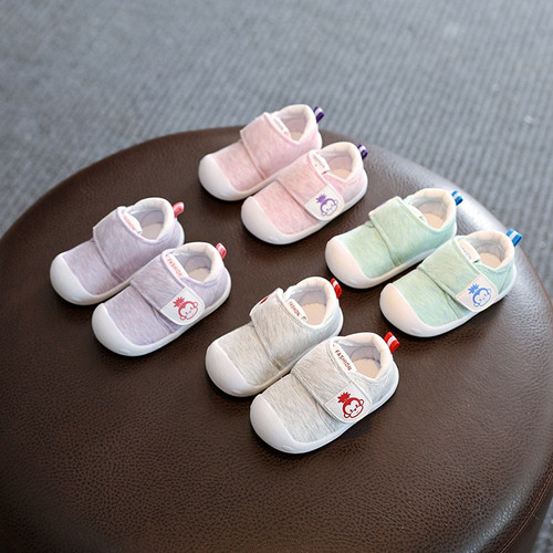 2018 Spring Infant Toddler Shoes High Quality Baby Girls Boys Shoes Cartoon Cotton Non-slip Babies Kids First Walkers Shoes