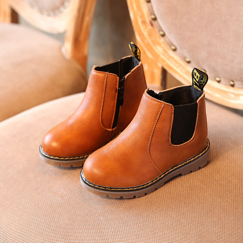 Hot SALE Children Shoes Boys Boots Autumn Winter Fashion Boys Gentleman Shoes Kids Leather Shoes Girls Martin Boots Size 21-36