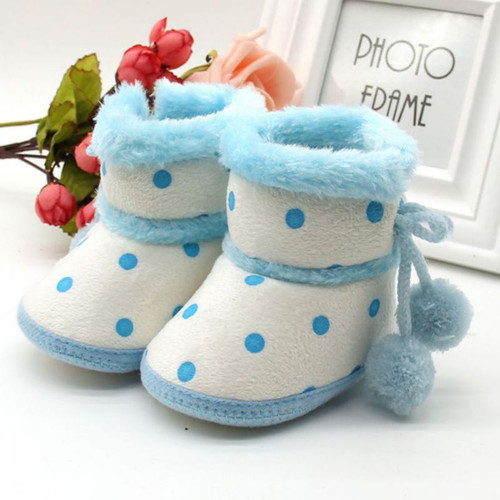Kacakid 2018 New Fashion Winter Warm Boots Soft Bottom Baby Girls Moccasin Boots Non-slip Booties 0-18Months Y6
