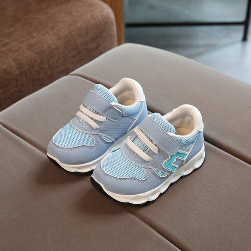 Hot sales high quality Unisex girls boys tennis shoes breathable light baby sneakers Hook&Loop patch baby casual toddlers