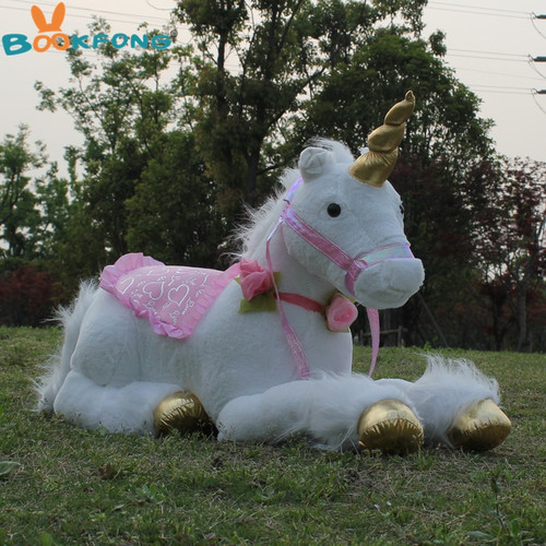 85cm Jumbo White Unicorn Plush Toys Giant Unicorn Stuffed Animal Horse Toy Soft Unicornio Peluche Doll Gift Children Photo Props