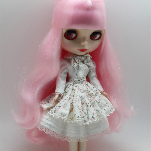 blyth doll clothes to Floral Dress it suitable for 1/6 doll, normal doll, joint doll, icy, jecci five