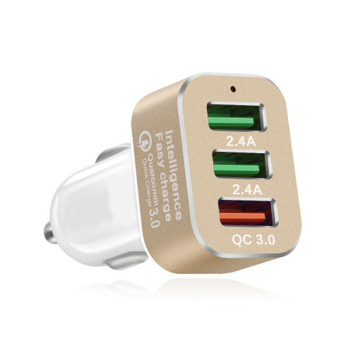Universal Quick Charge 3.0 42W 3-Ports USB Car Charger for iPhone; Samsung Galaxy; LG G4 / G5; Google Nexus; iOS Android Devices
