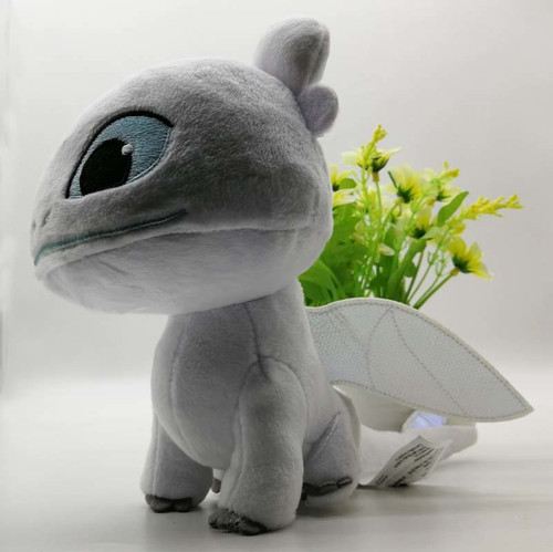 How to Train Your Dragon 3 Plush Toy Light Fury Soft White Dragon Stuffed Doll Gift
