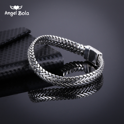 Ancient Silver Fashion Punk Buddha Bracelet for Women DIY Bracelets & Bangles Charms Bracelets Men Pulseira Jewelry Gifts