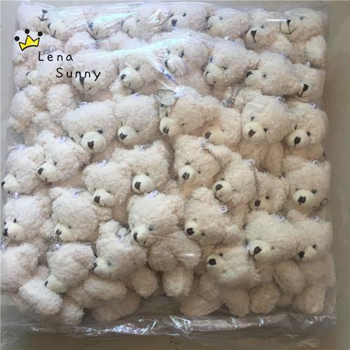 Kawaii Small Joint Teddy Bears Stuffed Plush With Chain,12CM Toy Teddy-Bear Mini Bear Ted Bears Plush Toys Gifts