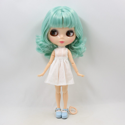 Free shipping factory blyth doll mint hair joint body natural skin BL4006 1/6 30cm
