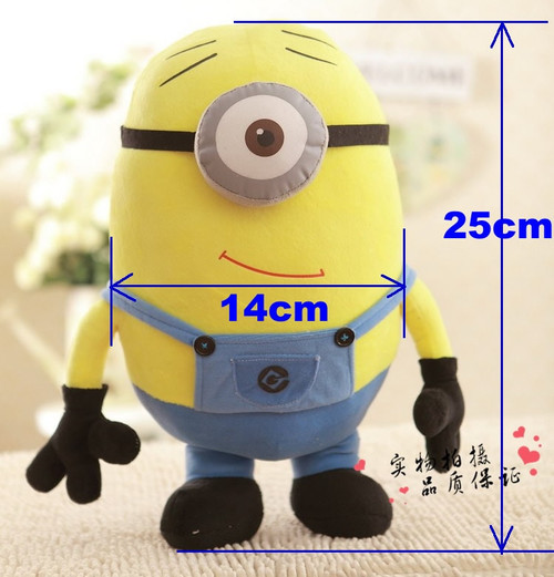 1 Piece 25CM 3D Minion Toys Despicable Me Minion Plush Toys Kids Stuffed Dolls Jorge Dave Kids Plush Dolls Christmas Gift TY28