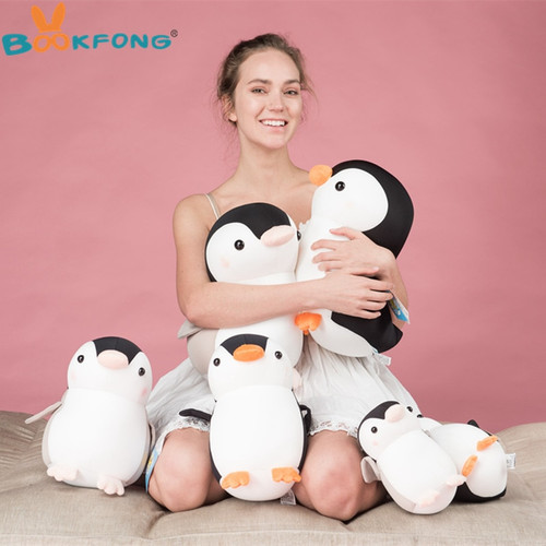 Soft Penguin Plush Toys Foam Particle Dolls Kawaii Penguin Stuffed Animals Plush Pillow Girls Children Baby Gifts Home Bed Decor