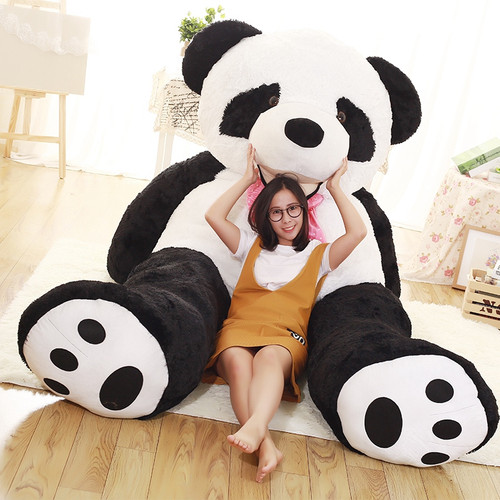 1pcs 100cm to 260cm cheap giant Panda Skin unstuffed empty teddy bear bear skin panda bear skin plush toys Girlfriends Presents