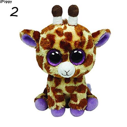 iPiggy 10pcs/lot Ty Beanie Boos Toy Doll 15cm Big Eyes Stuffed Animal Doll Unicorn Owl Leopard Elephant Baby Girl Birthday Gift