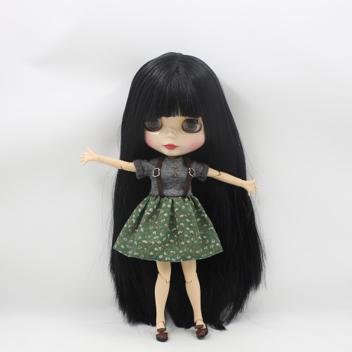 ICY Nude Factory Blyth Doll Series  No.BL9601 Black hair  white skin JOINT body  Neo