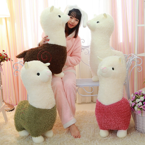 Lovely 35cm Cartoon Alpaca Plush Doll Toy Fabric Sheep Soft Stuffed Animal Plush Llama Yamma Birthday Gift For Baby Kid Children