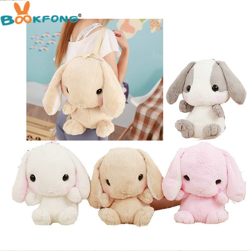 Kawaii Rabbit Plush Toy Soft Rabbit Shoulder Bag Stuffed Animal Toys Cartoon Rabbit Backpacks