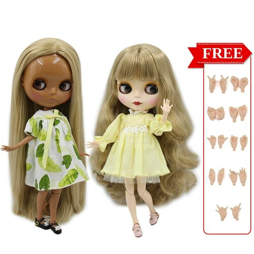 ICY Factory Blyth Doll Joint Body DIY Nude BJD toys Fashion Dolls girl gift New Special Offer on sale with hand set A&B