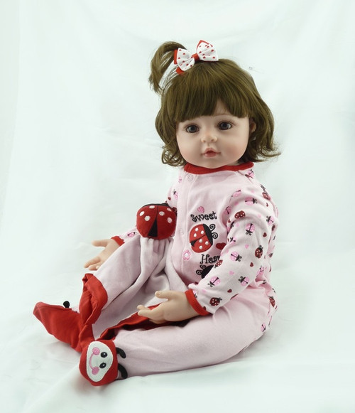 NPK 60cm very big 6-9Month reborn tollder doll  adora Lifelike newborn Baby Bonecas Bebe kid toy girl silicone reborn baby dolls