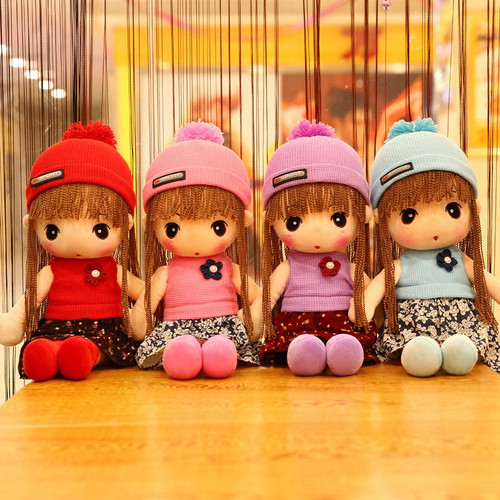 Cartoon Cute Dress Cloth Doll Plush Toy Cute Princess Filled Doll Shaped Doll