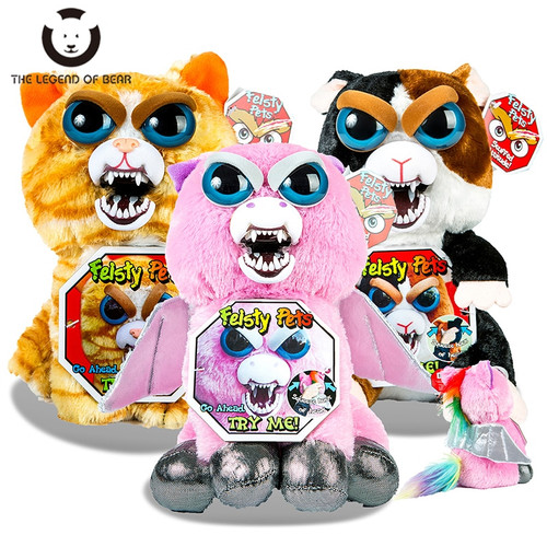 New Funny Feisty Pets Change Face Stuffed Plush Animals Toys For Children Unicorn Plush Toys Cute Soft Dolls Anime Kids Toys