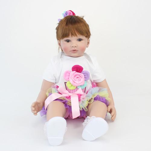 60cm Silicone Reborn Baby Doll Toys Like Real Vinyl Princess Toddler Babies Dolls Girls Bonecas Birthday Gift Present Play House
