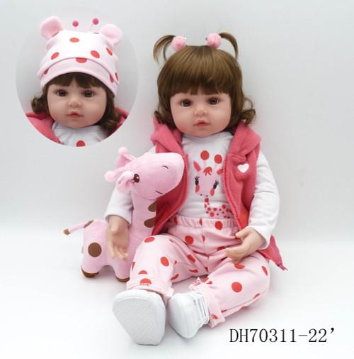 bebes reborn doll 47cm soft silicone reborn baby dolls com corpo de silicone menina baby dolls Christmas gifts lol doll surprice