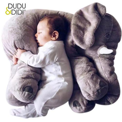 Cartoon 40cm Large Plush Elephant Toy Kids Sleeping Back Cushion stuffed Pillow  Doll Baby  Birthday Gift for