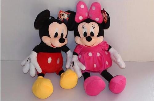 Original 50 cm Minnie Mouse Doll Big Plush Soft Mickey Stuffed Doll Anime Girl Birthday Gift Children Kids Baby Toys
