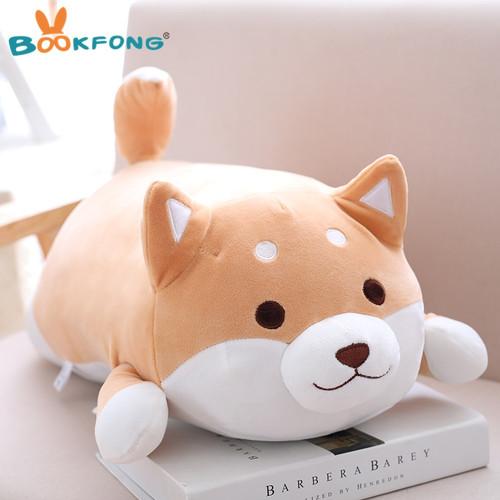 35cm Cute Fat Shiba Inu Dog Plush Toy Stuffed Soft Kawaii Animal Cartoon Pillow Lovely Gift for Kids Baby Children Birthday Gift
