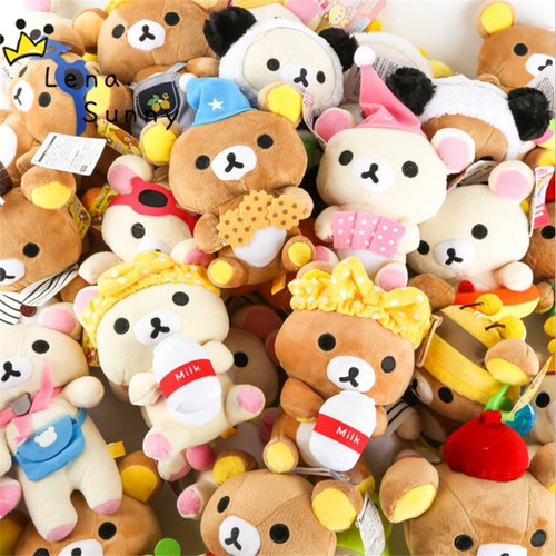 20Pieces/Lot Mixed Styles Rilakkuma Bear Plush Toy,Wedding/Party/Company Anniversary Promotional Rilakkuma Bear Gifts Toy