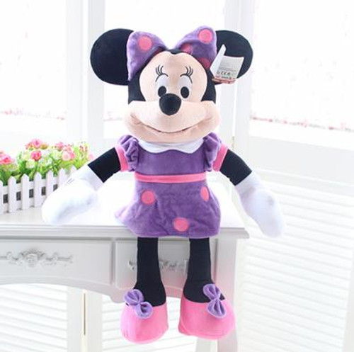 1pcs 50cm New Minnie Mouse Minnie Mickey Pelucia Pink Plush Stuffed Doll Mickey Toys  Best Gifts for Girlfriend and Children