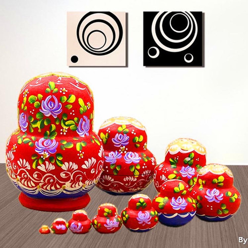 10pcs/set 15cm Matryoshka Doll Russian Doll Children Wooden Toys Russian Nesting Dolls Ethnic Dolls Dried Basswood Gift