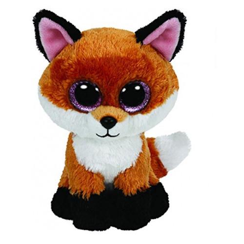 Ty Beanie Boos 6-Inch Slick Brown Fox Plush Beanie Baby Plush Stuffed Doll Toy Collectible Soft Toys Big Eyes Plush Toys