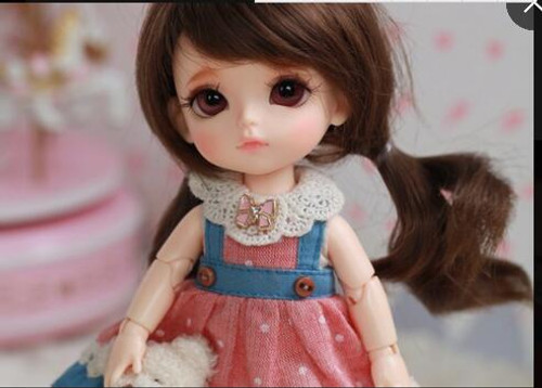 bjd 1/8 dolls  yellowW Happy  with eyes