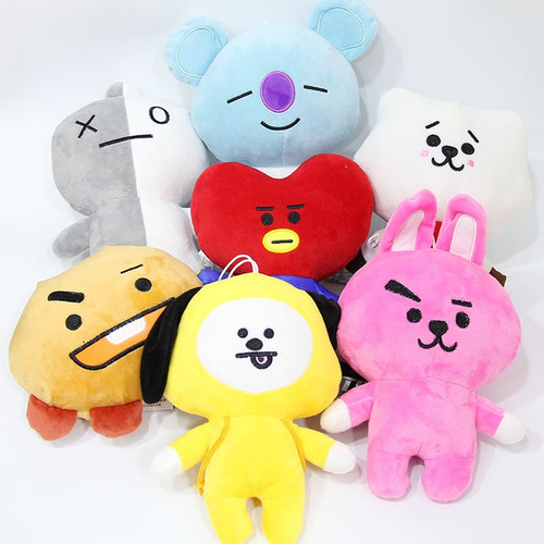 20cm Kpop Bangtan Boys BTS BT21 Plush Toys Doll Tata Van Cooky Chimmy Shooky Koya MANG Plush Stuffed Toys for Children Kids Gift
