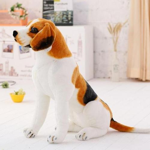 lovely squatting beagle dog plush toy birthday gift t0622