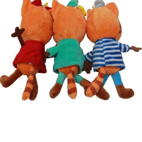 3pcs/lot Russian Cartoon Three Kittens Happy Kittens Cat Stuffed Plush Toys Soft Animals Cat  Doll for Kids Children Gifts