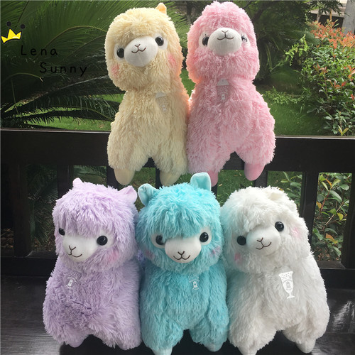 14 Colors Big Size 35/45cm Rainbow Alpaca Plush Toy ,Japanese Soft Plush Alpacasso Stuffed Lamb Sheep Animals Toy For Kids Gifts