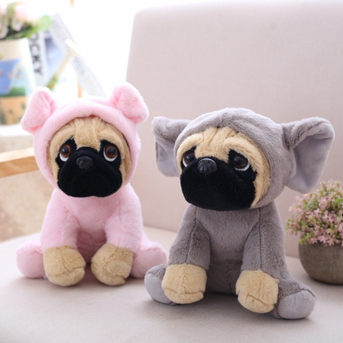 20 CM SharPei Turned Dog Doll Plush Toy Cute Dog Doll Simulation Belldog Pug Stuffed Animals Toys For Children Christmas Gift