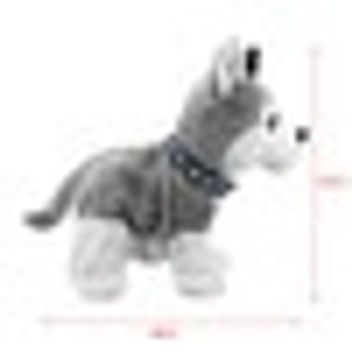 Electronic Robot Dog Kids Plush Toy Sound Control Interactive Bark Stand Walk 8 Movements Plush + Cellucotton Christmas Gifts