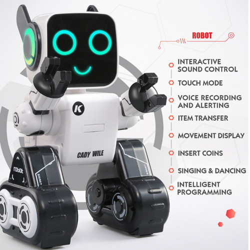 R4 RC Robots Multifunctional Voice-Activated Intelligent Toy Gesture Control Robot Toys Money Coin Saving Bank Kids Gifts