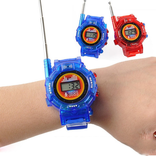 2Pcs/Pair Novelty 7in1 Kids Toys Watch Walkie-talkie Intercom Toys Outdoor Interaction Battle Game (Free Shipping)