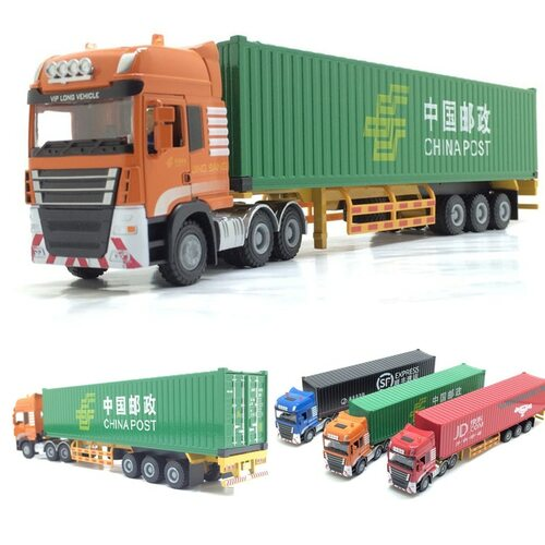 High simulation 1:50 alloy engineering vehicles Maersk semi-mounted container cargo Logistics truck for kids toys free shipping