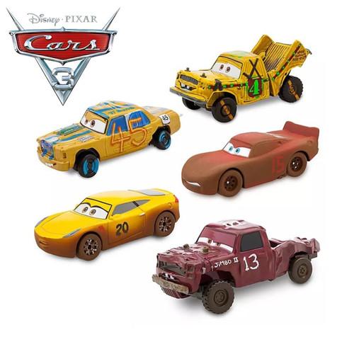 Disney Pixar Cars 3 Metal Crazy Crashed Party Lightning McQueen Car Toys  Dinoco Cruz Ramirez Mater Toy Car Gift For Children