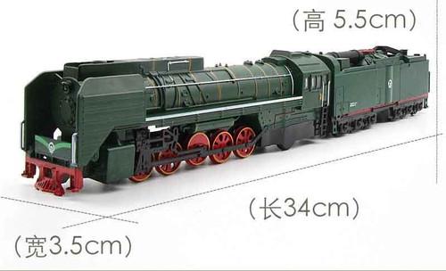 One Size Steam Train Diesel Locomotive Alloy Model toy cars Pull Back Sound Light Model toys for children