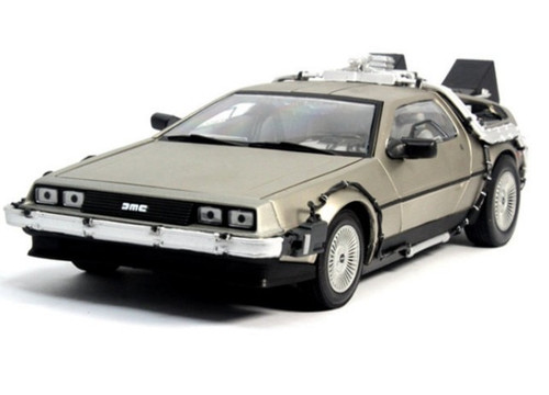 1:18 Back To The Future 2 delorean DMC-12 scifi car model Free Shipping