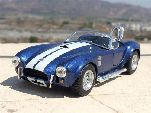 New 1:32 Scale Ford 1965 Shelby Cobra  Alloy Diecast Model Car Toy With Pull Back Collection As Gift For Boy Kids Free Shipping